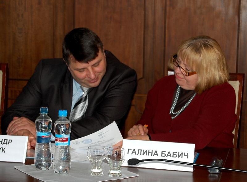 Галина Бабич та Олександ Поліщук