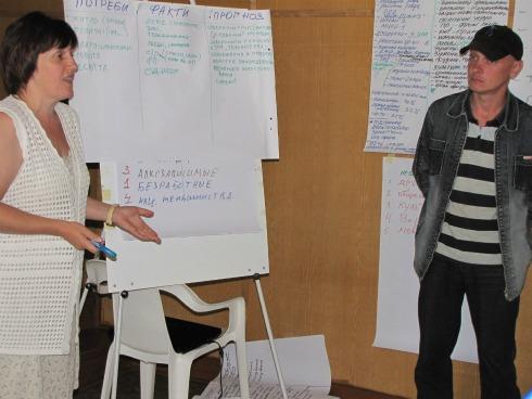 Жителі Радинки визначають потреби громади на одному з тренінгів ГУРТа